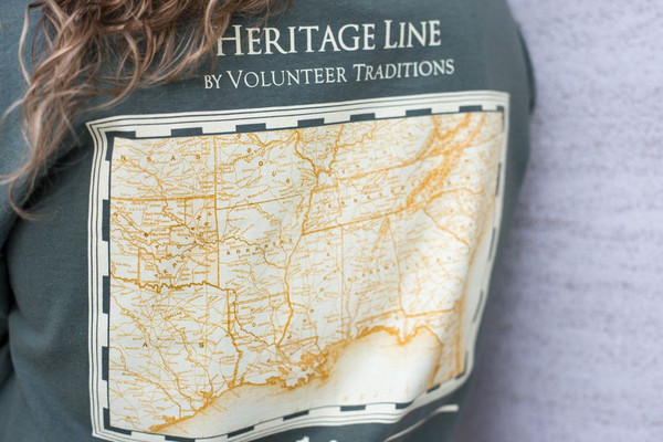 Moss Green Heritage Line Tee