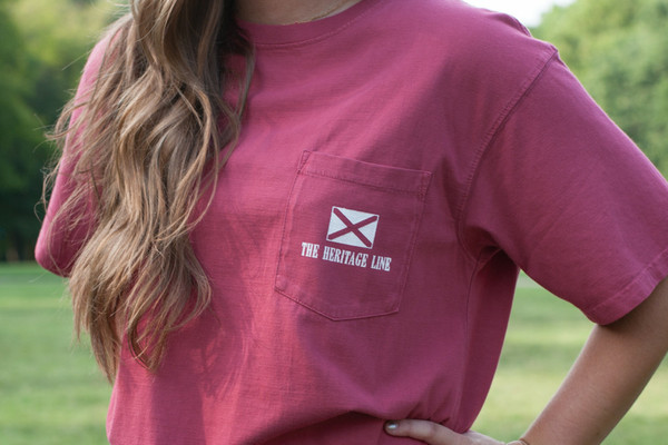 Alabama Flag Pocket Tee